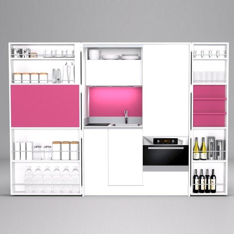 Küche PIA - weiß/rosa