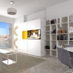 Küche PIA - weiß/gelb - geschlossen