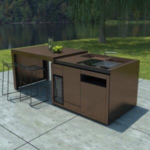 Außenküche NOTA - braun